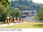 Купить «Храм Будды. Канди, Шри-Ланка», фото № 3677320, снято 17 октября 2011 г. (c) Хмельницкий Вячеслав / Фотобанк Лори