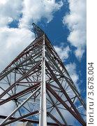 Конструкция металлическая для линии электропередачи на фоне неба. Стоковое фото, фотограф Алексей Макшаков / Фотобанк Лори