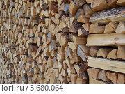 Поленница дров. Стоковое фото, фотограф Юлия Науменко / Фотобанк Лори