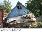 Город Крымск. Саманный дом, разрушенный в результате наводнения (2012 год). Стоковое фото, фотограф Василий Пешненко / Фотобанк Лори