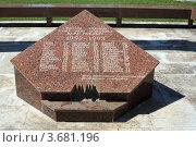 Купить «Памятник в Пицунде, фрагмент», эксклюзивное фото № 3681196, снято 11 июля 2012 г. (c) Игорь Веснинов / Фотобанк Лори