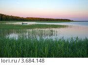 Купить «Закат на озере Селигер», эксклюзивное фото № 3684148, снято 21 июня 2012 г. (c) Елена Коромыслова / Фотобанк Лори