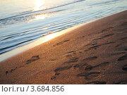 Песчаный берег на закате (2012 год). Стоковое фото, фотограф Шейнина Ольга / Фотобанк Лори