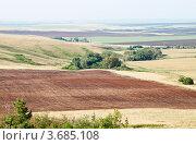 Сельский пейзаж. Вспаханное поле, фото № 3685108, снято 16 июня 2012 г. (c) Вадим Орлов / Фотобанк Лори