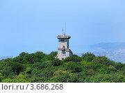 Купить «Смотровая башня на вершине горы Ахун на фоне Сочи», фото № 3686268, снято 21 июля 2012 г. (c) Анна Мартынова / Фотобанк Лори