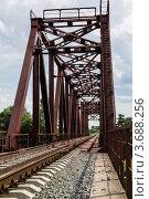 Железный мост. Стоковое фото, фотограф Андрей Корж / Фотобанк Лори