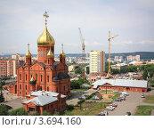 Купить «Знаменский кафедральный собор в городе Кемерово», фото № 3694160, снято 3 июля 2012 г. (c) Константин Челомбитко / Фотобанк Лори