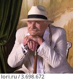 Купить «Никита Михалков», эксклюзивное фото № 3698672, снято 25 июля 2012 г. (c) Сергей Лаврентьев / Фотобанк Лори