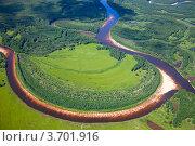Пойма лесной реки летом. Стоковое фото, фотограф Владимир Мельников / Фотобанк Лори