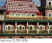 Измайловский кремль. Фрагмент деревянной постройки. Москва (2012 год). Редакционное фото, фотограф lana1501 / Фотобанк Лори