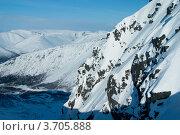 Купить «Зимний пейзаж, горы Хибины», фото № 3705888, снято 31 марта 2012 г. (c) Morgenstjerne / Фотобанк Лори