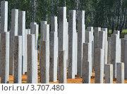 Строительные сваи. Стоковое фото, фотограф Воробьев Валерий / Фотобанк Лори