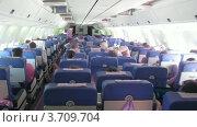 Купить «Салон самолета с пассажирами в Фуджейра, ОАЭ(Таймлапс)», видеоролик № 3709704, снято 21 сентября 2010 г. (c) Losevsky Pavel / Фотобанк Лори