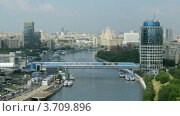 Купить «Вид города с возвышенности в Москве, Россия (Таймлапс)», видеоролик № 3709896, снято 21 сентября 2010 г. (c) Losevsky Pavel / Фотобанк Лори