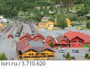 Купить «Флом, Норвегия. Железнодорожная станция», фото № 3710620, снято 12 июня 2012 г. (c) Вадим Хомяков / Фотобанк Лори
