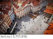 Фотография Староместской площади (г. Прага, Чехия) с эффектом tilt-shift (2012 год). Стоковое фото, фотограф Инна Касацкая / Фотобанк Лори