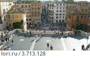 Купить «Туристы у Скалинаты в Риме, италия, таймплапс», видеоролик № 3713128, снято 20 сентября 2010 г. (c) Losevsky Pavel / Фотобанк Лори