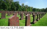 Купить «Надгробия советским солдатам», видеоролик № 3715840, снято 16 ноября 2010 г. (c) Losevsky Pavel / Фотобанк Лори