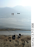 Рассвет на Телецком озере. Стоковое фото, фотограф Олег Брагин / Фотобанк Лори