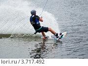 Купить «Катание на водной доске», фото № 3717492, снято 29 июля 2012 г. (c) Александр Лядов / Фотобанк Лори