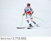 Купить «Виктория Ребенсбург на финише горнолыжной трассы в Сочи», фото № 3718692, снято 18 февраля 2012 г. (c) Анна Мартынова / Фотобанк Лори
