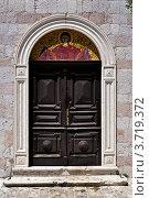 Купить «Двери и мозаика, Церковь Св. Троицы, Будва, Черногория», фото № 3719372, снято 15 июня 2012 г. (c) Доброславская Галина / Фотобанк Лори