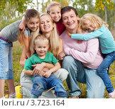 Купить «Семья с четырьмя детьми», фото № 3723164, снято 17 сентября 2011 г. (c) Гладских Татьяна / Фотобанк Лори