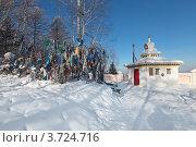Купить «Буддистская Ступа на границе Иркутской области и Республики Бурятия», фото № 3724716, снято 11 февраля 2012 г. (c) Игорь Долгов / Фотобанк Лори