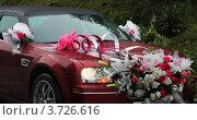 Украшение цветами свадебного  автомобиля. Стоковое фото, фотограф Наталья Силинская / Фотобанк Лори