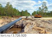 Купить «Строительство нефтепровода в Западной Сибири», фото № 3726920, снято 3 августа 2012 г. (c) Икан Леонид / Фотобанк Лори