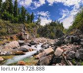 Река Перевальная. Восточные Саяны. Стоковое фото, фотограф Виктор Никитин / Фотобанк Лори