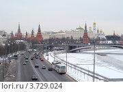 Москва зимой (2008 год). Редакционное фото, фотограф Александр Довянский / Фотобанк Лори