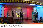 Купить «XIV церемония награждения Блокбастер  в гостинице Ренессанс», видеоролик № 3729216, снято 16 марта 2011 г. (c) Losevsky Pavel / Фотобанк Лори