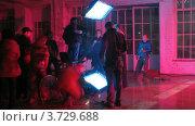 Купить «На съемках видеоклипа(Таймлапс)», видеоролик № 3729688, снято 18 декабря 2010 г. (c) Losevsky Pavel / Фотобанк Лори