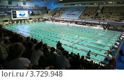 Купить «Чемпионат России по плаванию», видеоролик № 3729948, снято 18 марта 2011 г. (c) Losevsky Pavel / Фотобанк Лори