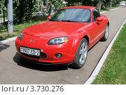 Купить «Автомобиль Mazda miata MX-5», эксклюзивное фото № 3730276, снято 25 июля 2012 г. (c) stargal / Фотобанк Лори