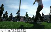 """Купить «Стадион """"Янтарь"""" в Строгино (Таймлапс)», видеоролик № 3732732, снято 21 декабря 2010 г. (c) Losevsky Pavel / Фотобанк Лори"""