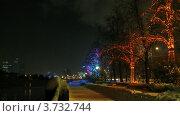 Купить «Набережная поздним зимним вечером», видеоролик № 3732744, снято 20 марта 2011 г. (c) Losevsky Pavel / Фотобанк Лори