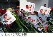 Купить «День победы. Букеты цветов возле памятника», фото № 3732948, снято 9 мая 2012 г. (c) Morgenstjerne / Фотобанк Лори