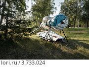 Старый спортивный самолет на опушке леса. Стоковое фото, фотограф Олег Скударнов / Фотобанк Лори