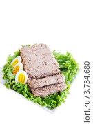 Купить «Паштет и яйца», фото № 3734680, снято 26 июля 2012 г. (c) Юлия Маливанчук / Фотобанк Лори