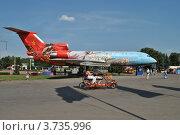 Купить «Самолет на ВВЦ (ВДНХ). Москва», эксклюзивное фото № 3735996, снято 3 августа 2012 г. (c) lana1501 / Фотобанк Лори
