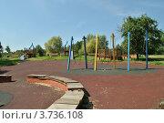 Детская площадка в парке «Сад будущего» или Парк Леоново. Москва (2012 год). Стоковое фото, фотограф lana1501 / Фотобанк Лори