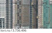 Купить «Строительство высокого здания(таймлапс)», видеоролик № 3736496, снято 1 июня 2011 г. (c) Losevsky Pavel / Фотобанк Лори