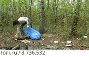 Купить «Мужыина собирает мусор в лесу, таймлапс», видеоролик № 3736532, снято 6 июля 2011 г. (c) Losevsky Pavel / Фотобанк Лори