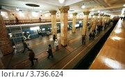 Купить «Московский метрополитен», видеоролик № 3736624, снято 30 апреля 2011 г. (c) Losevsky Pavel / Фотобанк Лори