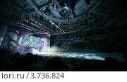 Купить «Актеры в костюмах и коньках на льду, освещенном разноцветными огнями в ДС Мегаспорт», видеоролик № 3736824, снято 30 мая 2011 г. (c) Losevsky Pavel / Фотобанк Лори