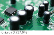 Купить «Плата с радио компонентами», видеоролик № 3737048, снято 3 мая 2011 г. (c) Losevsky Pavel / Фотобанк Лори