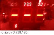 Купить «Красочные платы на игровом автомате с мигающими номерами», видеоролик № 3738180, снято 3 августа 2011 г. (c) Losevsky Pavel / Фотобанк Лори