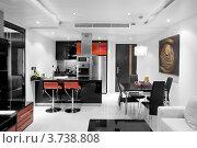 Купить «Интерьер квартиры-студии», фото № 3738808, снято 1 декабря 2009 г. (c) Дмитрий Эрслер / Фотобанк Лори